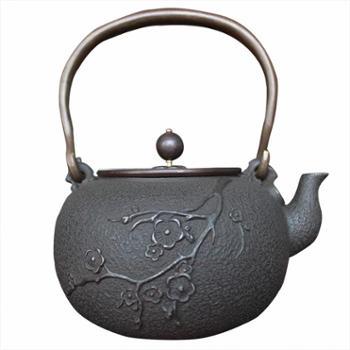 示象堂铁壶-梅花夜景日本铁壶无涂层纯手工铸铁茶壶家用电陶炉电磁炉