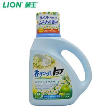 【日本原装进口】狮王TOP持久香氛柔顺洗衣液(洋甘菊香型)900g