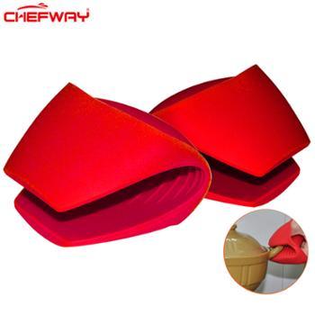 CHEFWAY世夫威微波炉烤箱专用隔热手套防滑厨房烘培耐高温防烫硅胶手套