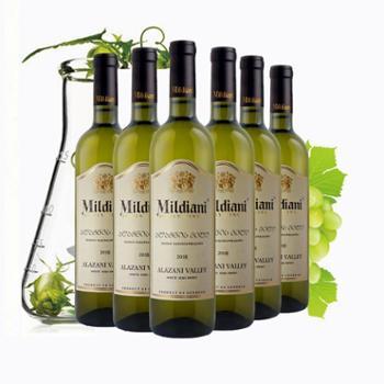 【西安威豪】格鲁吉亚红酒原瓶原装进口阿拉善谷半甜白葡萄酒6支装