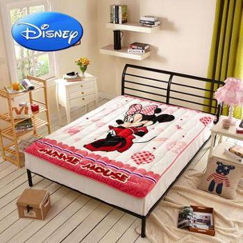 迪士尼法莱绒卡通床垫儿童床上用品冬天学生保暖米妮睡垫秋冬