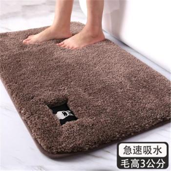 夏浪高毛浴室卫生间吸水地垫跨境地毯卧室防滑脚垫