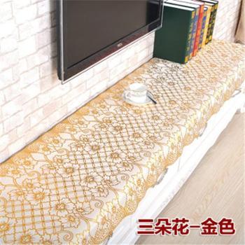 pvc桌布茶几电视柜台布床头柜防水餐垫电视桌茶几布盖布烫金
