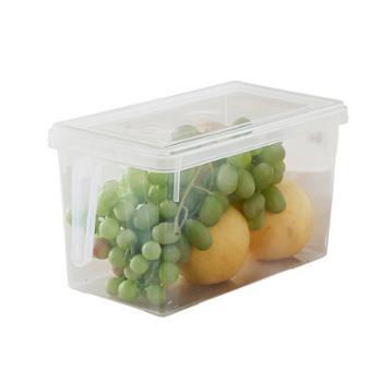 欧茂 冰箱收纳保鲜盒带盖带把手 1只装