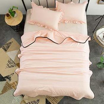 鸿秀水洗棉泡泡纱空调被夏凉被1.5m