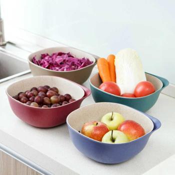 【陕西晟木电子】创意双层沥水篮洗菜盆厨房塑料洗菜篮子客厅果盘家用水果盆水果篮