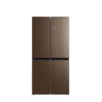 美的 BCD-428WTPZM(E)冰箱双开门家用十字门风冷变频智能电冰箱