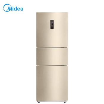 【陕西晟木电子】Midea/美的 BCD-258WTPZM(E)三门电冰箱变频智能风冷无霜家用