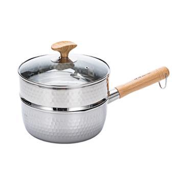 Kanda/神田 雪平锅18cm不锈钢奶锅煮面锅家用汤锅泡面锅