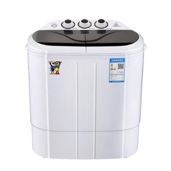小鸭 2.5公斤双缸半自动迷你洗衣机 婴儿宝宝小洗衣机 蓝光款