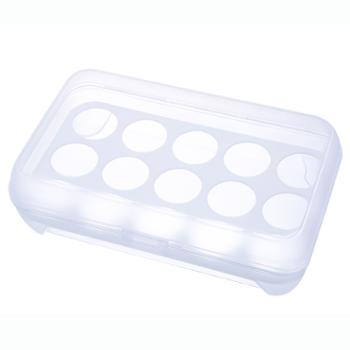 冰箱保鲜盒便携野餐鸡蛋收纳盒塑料白色