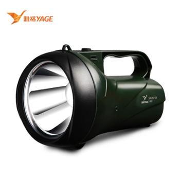 雅格 5710LED防水手电筒 3W强光充电式手提灯 户外照明远程探照灯