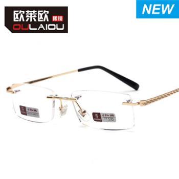 oulaiou/欧莱欧老花镜无框豪华老花眼镜老年人时尚经典老人眼镜8047