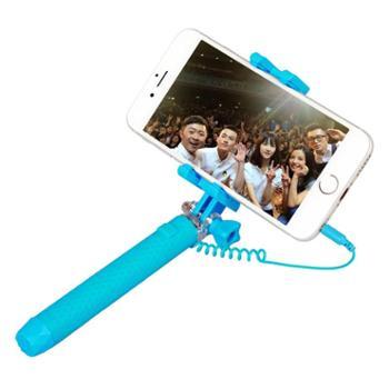 语茜YUXI迷你手机自拍杆神器三代线控自拍杆70cm