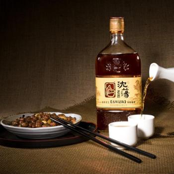 沈荡酿造老酒五年足陈雕花玻璃瓶装传统手工冬酿古法黄酒海盐特产
