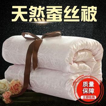 蚕丝被100%桑蚕丝空调被夏凉被单人双人春秋被全棉被子棉被芯冬被