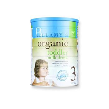 Bellamy's贝拉米3段有机婴幼儿奶粉900g新包装海外购原装进口1-3岁的宝宝三段奶粉2020年3月到期