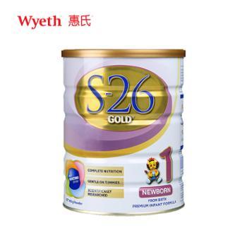 澳新版惠氏S26金装1段900g新生儿婴幼儿配方奶粉适用于0-6个月宝宝2021年8月到期