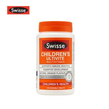 Swisse儿童复合维生素咀嚼片120粒矿物质改善食欲均衡营养澳洲进口2020年10月到期