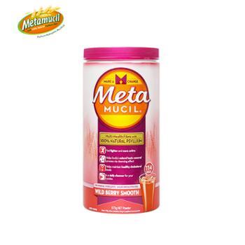 Metamucil美达施膳食纤维粉鲜莓味673g 114次 清肠润肠排宿便去油腻 2020年10月到期