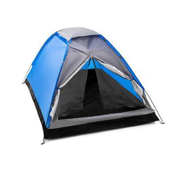 徽羚羊帐篷户外2人单层手搭野营帐篷单人露营情侣加厚防雨帐篷