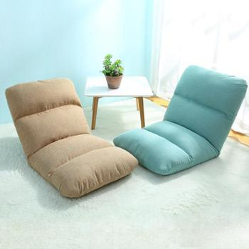 木优懒人沙发 单人 宿舍可折叠榻榻米 床上寝室电脑靠背沙发椅子1个