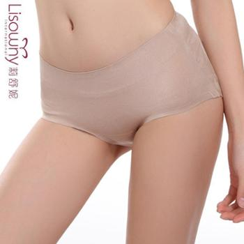 【3条装】一片式无痕女士内裤肖花透气舒适棉裆性感三角裤女