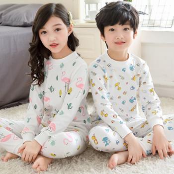 儿童纯棉内衣套装男童女童薄款保暖棉毛衫春秋季秋衣