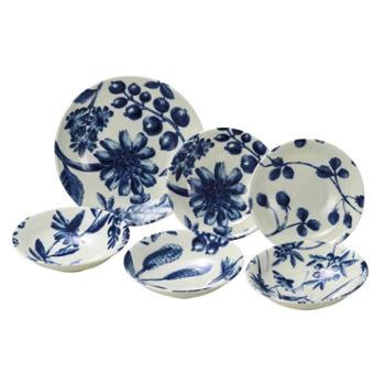 日本原产AITO Botamical美浓烧陶瓷餐盘餐碗碟子 6件套装