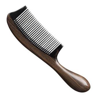 牛角梳家用大号带柄檀木拼接美发梳