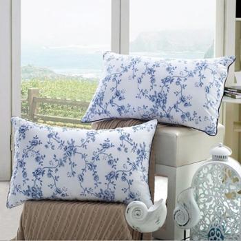 黛丝丹奴枕头枕芯成人护颈颈椎枕枕头青花瓷枕芯一对装