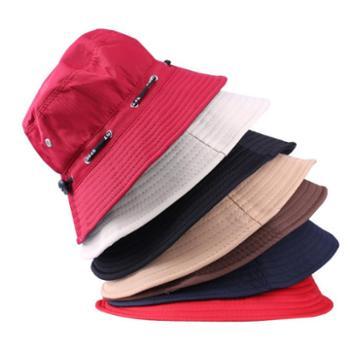 春秋冬渔夫帽子男女光板户外帽折叠遮阳防晒盆帽旅游帽太阳帽