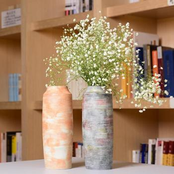 陶溪川景德镇陶瓷手绘花瓶家居装饰品摆件志野烧花器花插礼品