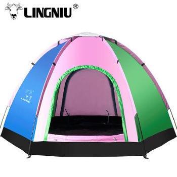 格温多琳羚牛 户外帐篷 5-6人野营野外露营 防紫外线休闲郊游帐篷