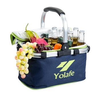 外卖保温箱10L 手提车载电动车送餐冰包 折叠快餐包 冷藏包野餐篮送蓄冰袋5个!