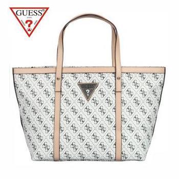 盖尔斯(GUESS)肩背包 女性时尚休闲PVC+超细纤维 GSBU6296411WHI