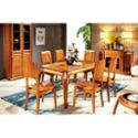 金六甲实木餐桌 新中式餐桌 布艺沙发组合金丝木客厅木质餐桌 高端