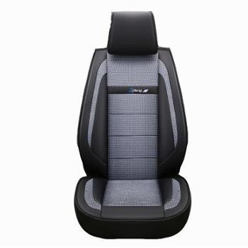 丹尼皮透气棉麻汽车3D坐垫 四季季全包座垫【下单备注车型】