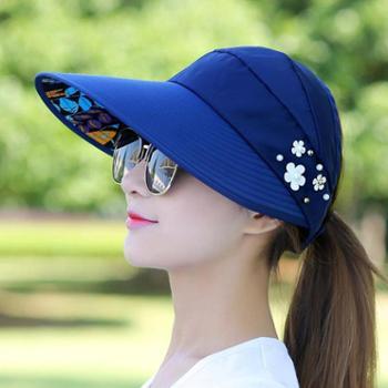【包邮】女士遮阳帽帽子女夏天休闲百搭出游防紫外线韩版夏季可折叠防晒太阳帽