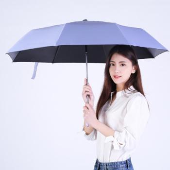 沐笙创意配色手柄晴雨小黑伞户外遮阳伞太阳伞防晒防紫外线广告伞