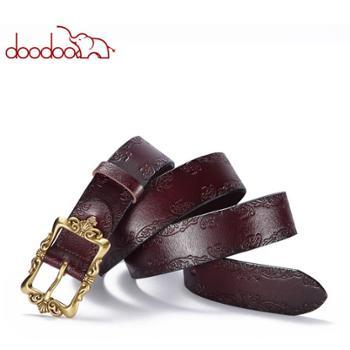 韩版简约时尚腰带女士皮带新款配件压花皮带
