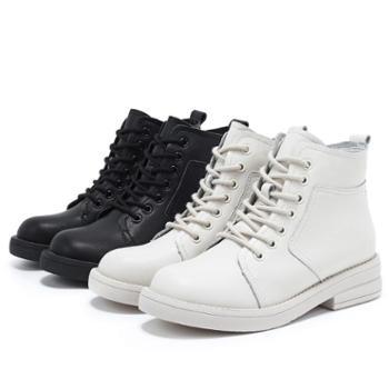 马丁靴女秋冬新款秋款粗跟真皮ins潮酷英伦风百搭短靴女中筒靴子
