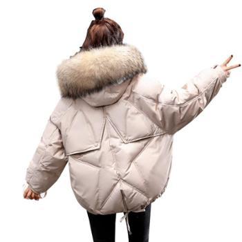 流行韩版棉衣棉服时尚气质百搭优雅连帽长袖