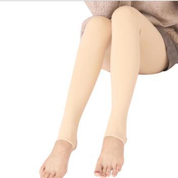 浪莎秋冬打底裤女光腿神器加厚大码隐形保暖裤连裤肉色打底袜
