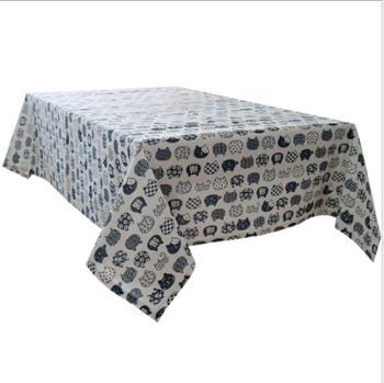 棉麻小清新桌布布艺格子北欧文艺书桌茶几餐桌简约现代家用长方形桌布