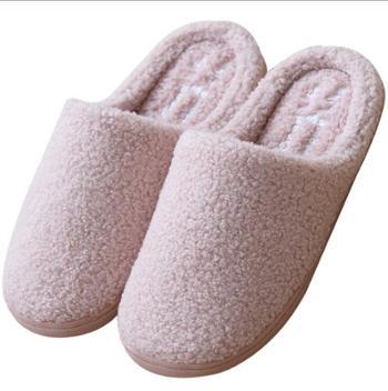 安尚芬毛绒棉拖女室内防滑男士情侣卧室家居家用棉拖鞋