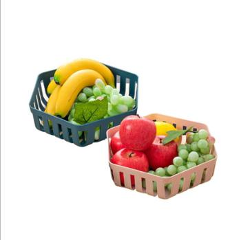2个装泽熙镂空水果盆洗水果篮沥水篮家用水果篮塑料厨房洗菜盆洗菜篮ZT5015