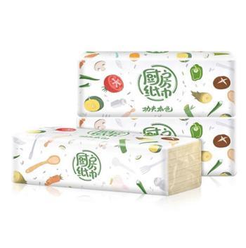 3包装植护厨房用纸吸水吸油纸巾竹浆本色抽纸抽取式厨用卫生纸1提三包