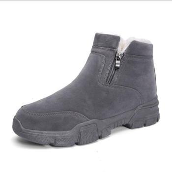 韩版男士棉鞋 高帮潮男面包鞋 运动休闲鞋冬季加绒雪地靴男