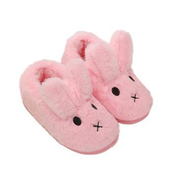 兔子儿童包跟棉拖鞋男女居家可爱卡通保暖宝宝小孩秋冬季儿童棉鞋